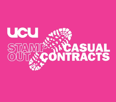 UCU Stamp Out Casual Contract graphic