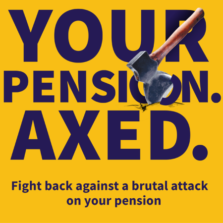 UCU poster publicising university employers' attack on the USS pension scheme