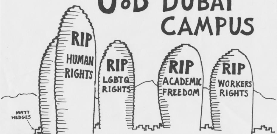 Poster of academic boycott of