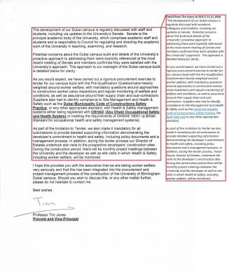 UoB Dubai campus construction reply (JB) (2)