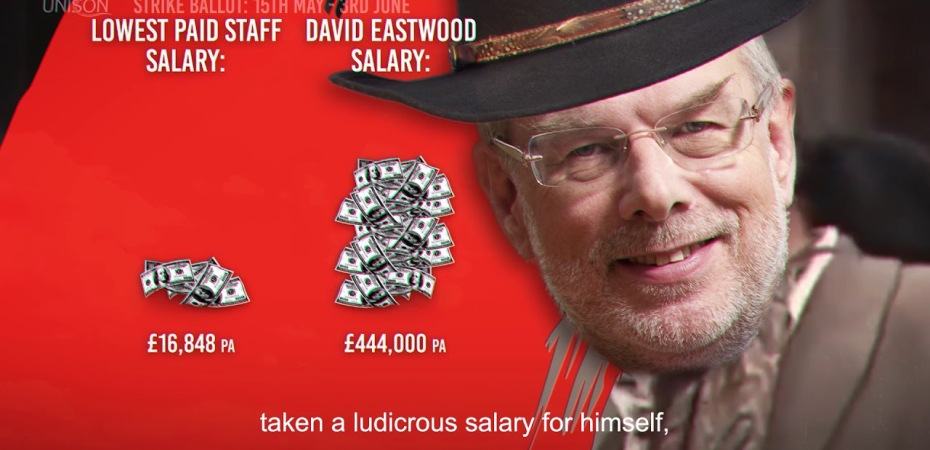 Thumbnail image from UNISON University of Birmingham Strike Ballot campaign video - It's High Noon for David Eastwood
