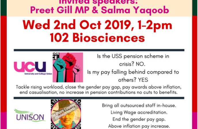 Birmingham Justice for Workers event flyer