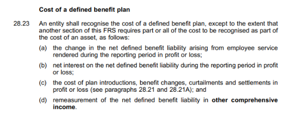Excerpt of University of Birmingham annual accounts dealing with defined pension scheme costs