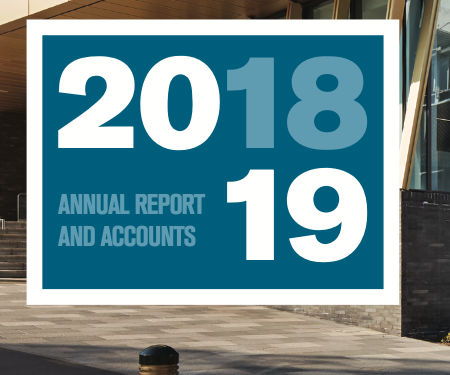 Front cover of Excerpt of University of Birmingham annual accounts 2018-2019 front cover